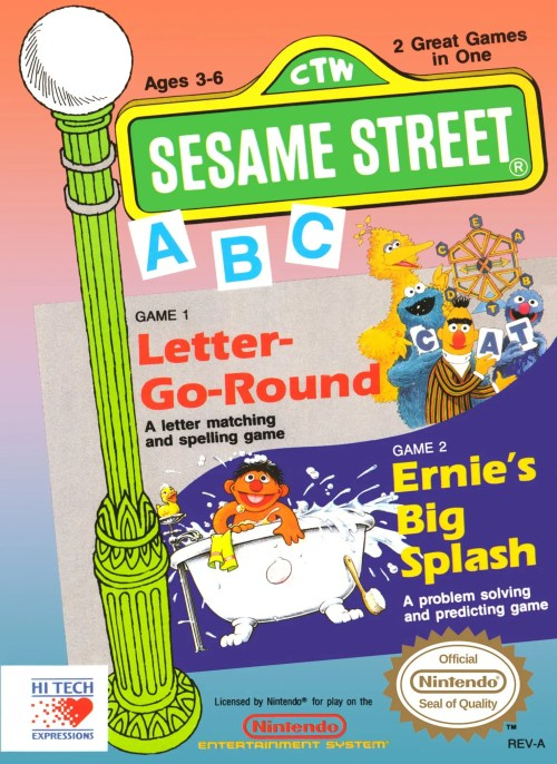 Sesame Street A-B-C for Nintendo Entertainment System (NES)