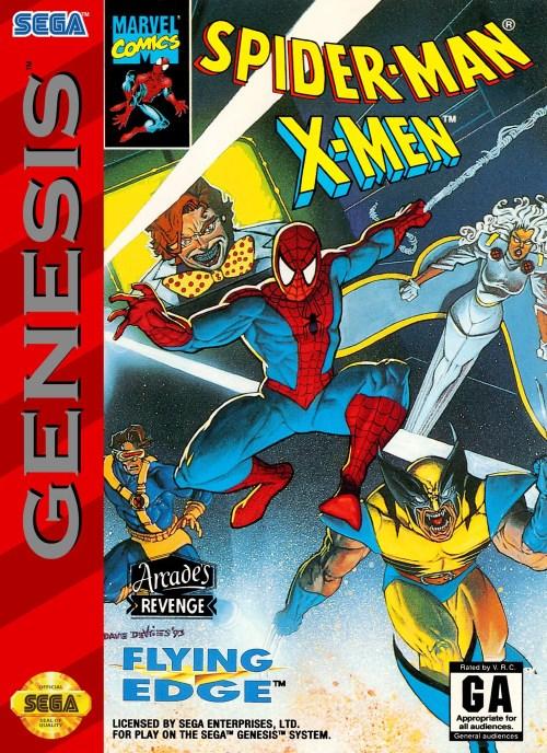 Spider-Man and the X-Men in Arcade's Revenge for Sega Genesis