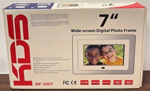 KDS 7″ Wide-screen Digital Photo Frame (MF-2007)
