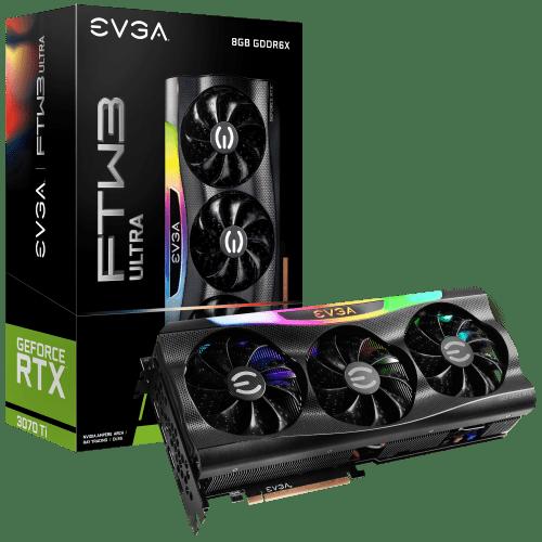 EVGA GeForce RTX 3070 Ti FTW3 ULTRA GAMING Graphics Card (08G-P5-3797-KL)
