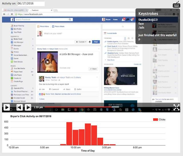 PC Tattletale spys on Facebook Screen shot