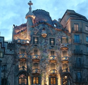 "Whether you consider yourself a scholar or more of an artist, transferrable skills can help you achieve your dreams! (Photo of Antoni Gaudi's ""Casa Batllo"" in Barcelona, Spain. Photo credit: Jalisha Braxton)"