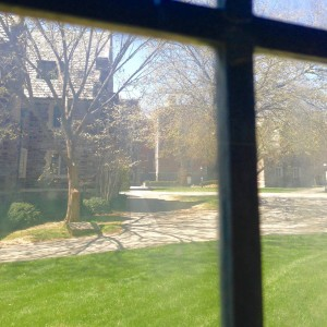 April is teaching me to look out this window - and at the world - through a creative lens.