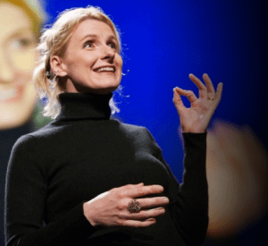 Elizabeth Gilbert onstage at TED in 2009.