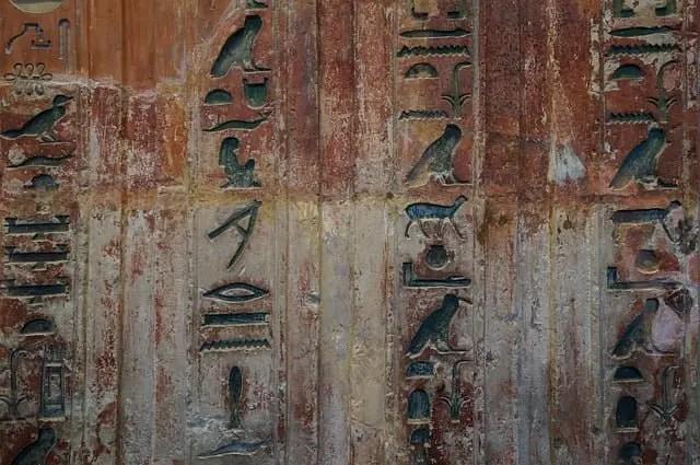 Antiguo Egipto, jeroglíficos
