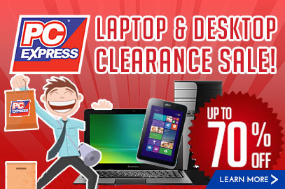 Laptop and Desktop Clearance Sale Promo