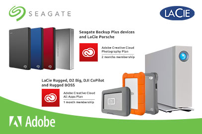 Seagate & Lacie Products with ADOBE Creative Cloud Promotion