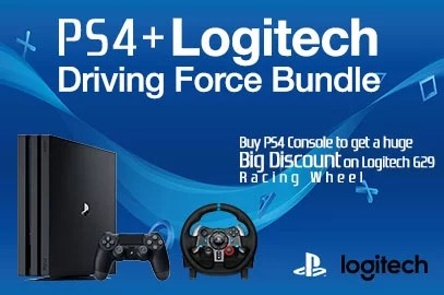 PS4 + Logitech Driving Force Bundle | PC Express