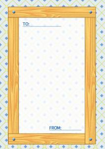 木目のメッセージカード縦4