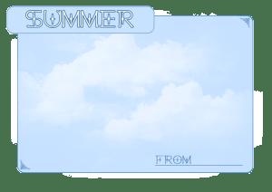 夏のフレーム:1