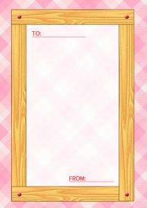 木目のメッセージカード縦2