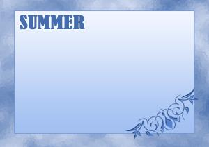 夏のフレーム3