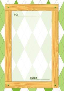 木目のメッセージカード縦3