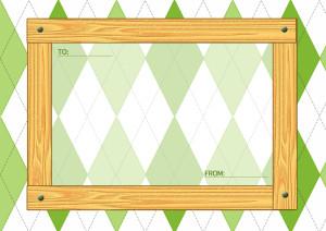 木目のメッセージカード横3