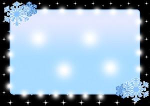 雪の結晶のメッセージカード