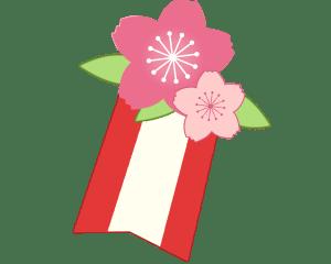 桃の花の飾り