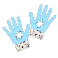 手袋:水色