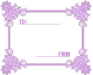 お洒落なフレーム:紫