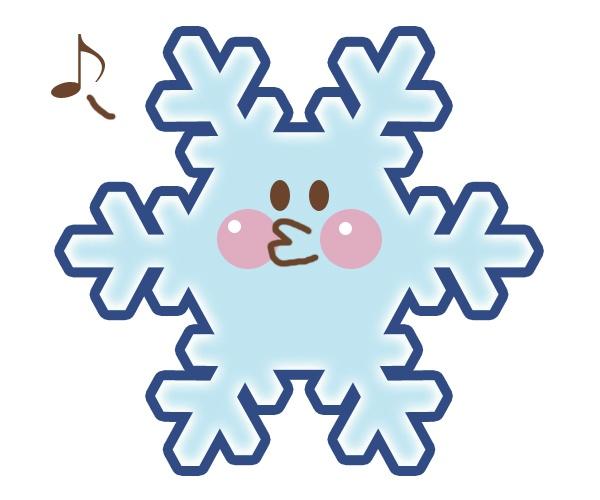 雪の結晶:ご機嫌な顔