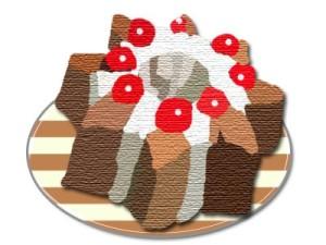 スターチョコケーキ