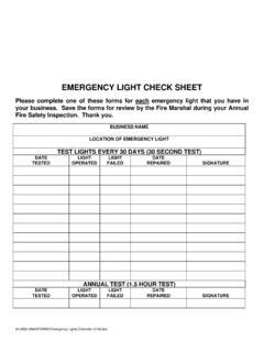 emergency light check sheet pbfd net