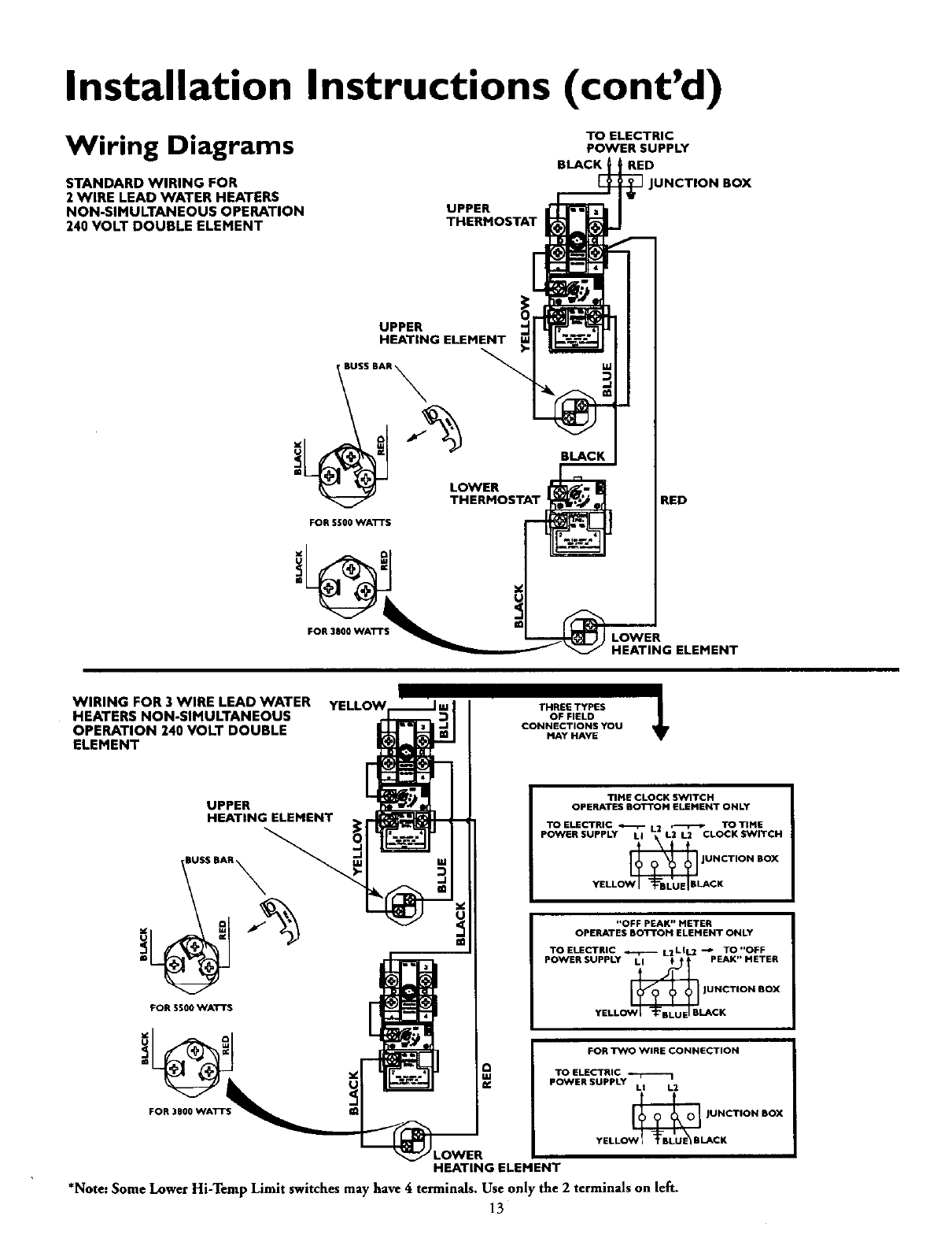 Page 13 Of Kenmore Water Heater 153 User Guide