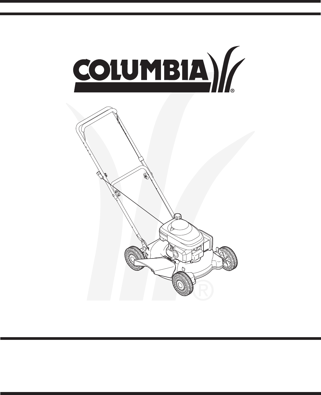 Columbian Home Products Lawn Mower 100 User Guide