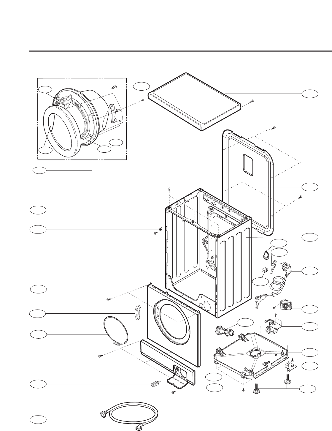Best Kitchen Gallery: Page 44 Of Lg Electronics Washer F1256qd User Guide Manualsonline of Kitchen Cabinet Exploded View on rachelxblog.com