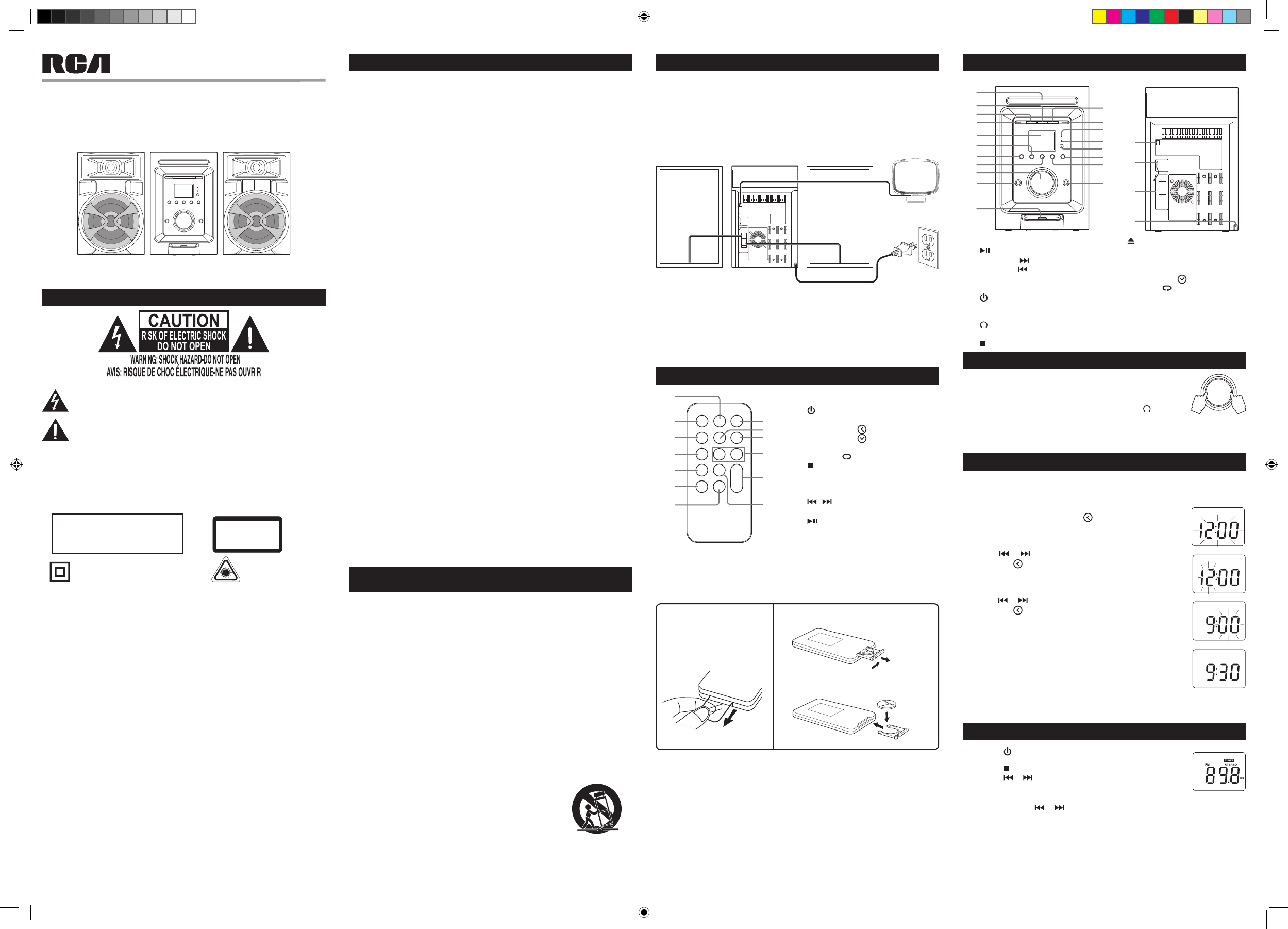 Rca Stereo System Rs I User Guide