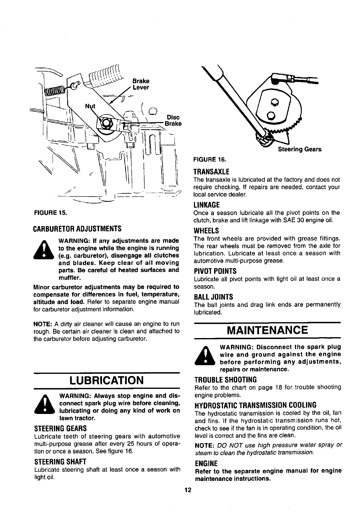 Page 12 Of White Lawn Mower 134a606f190 User Guide