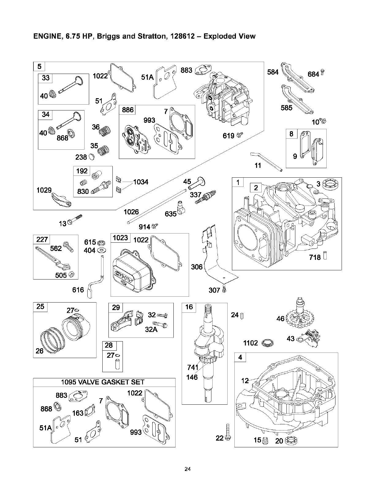 Cute exploded view of briggs and stratton engine pictures