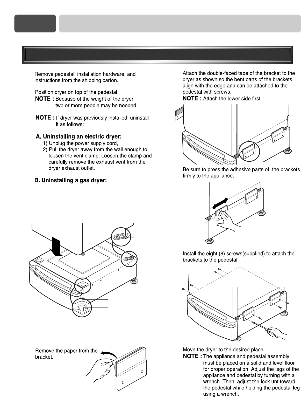 Page 14 Of Lg Electronics Washer Dryer Dle W User Guide