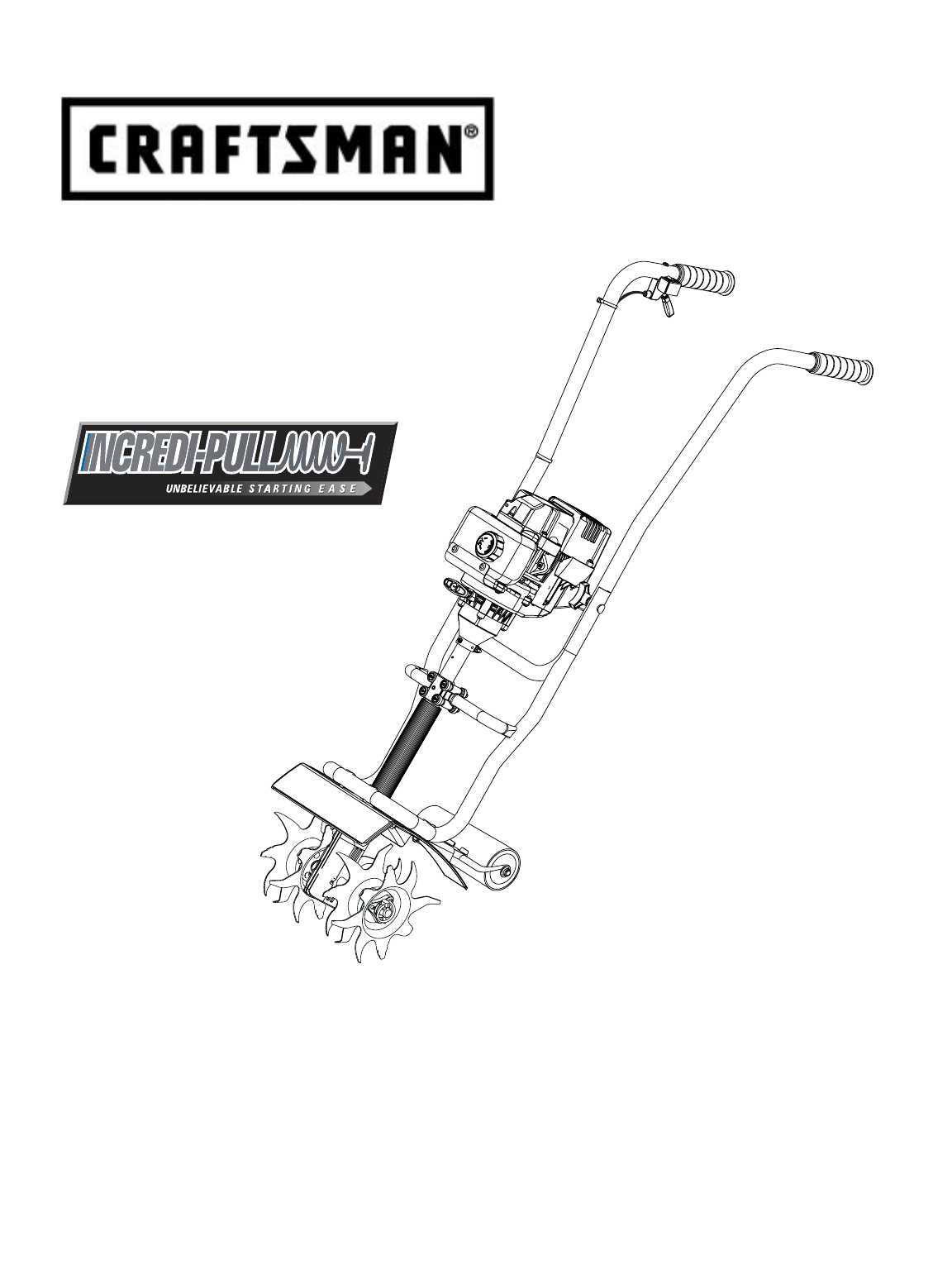 Craftsman Cultivator 316 User Guide