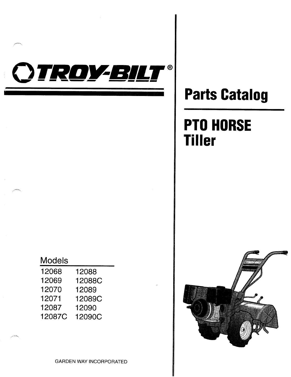 Troy Bilt Tiller C User Guide