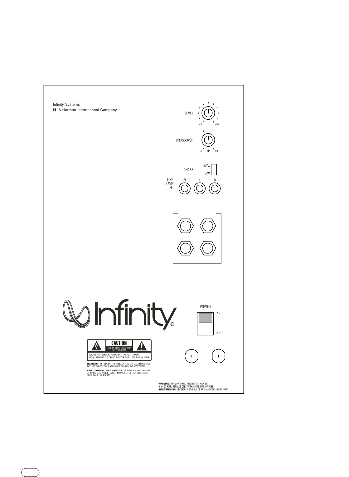 Page 4 Of Infinity Speaker Ps 8 User Guide
