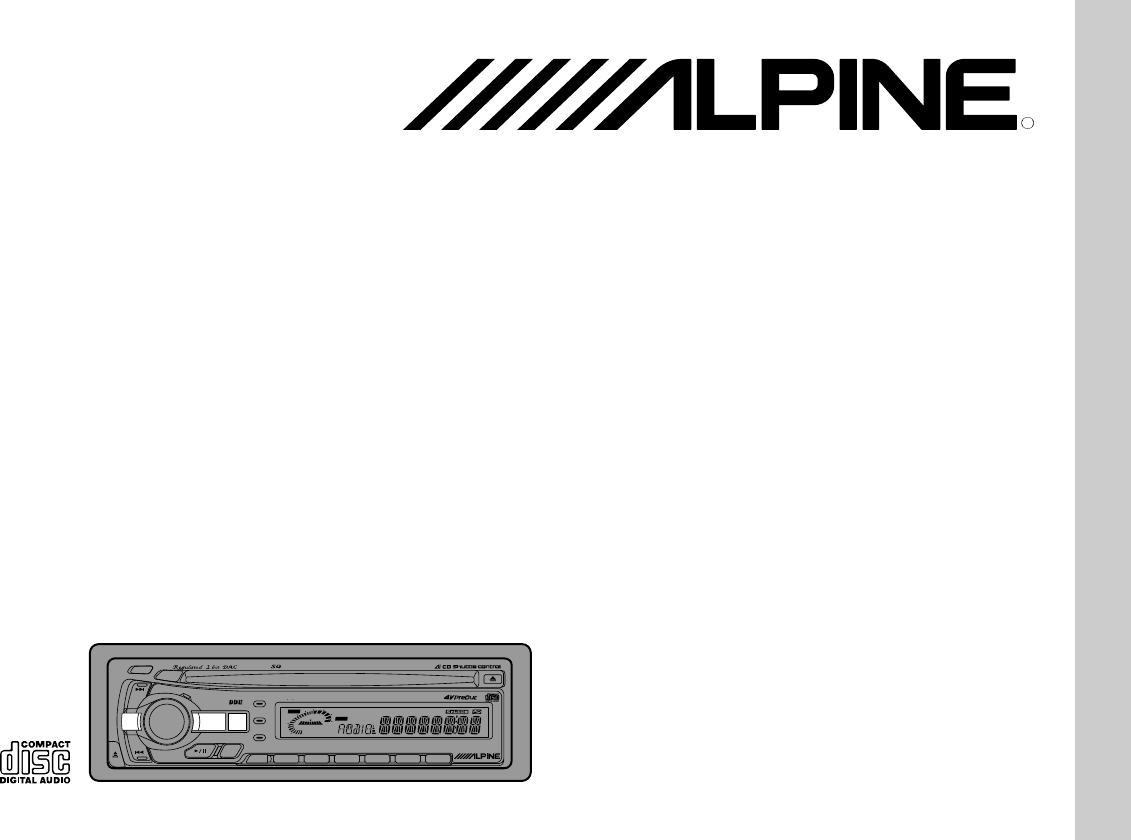 Alpine Car Stereo System Cda User Guide