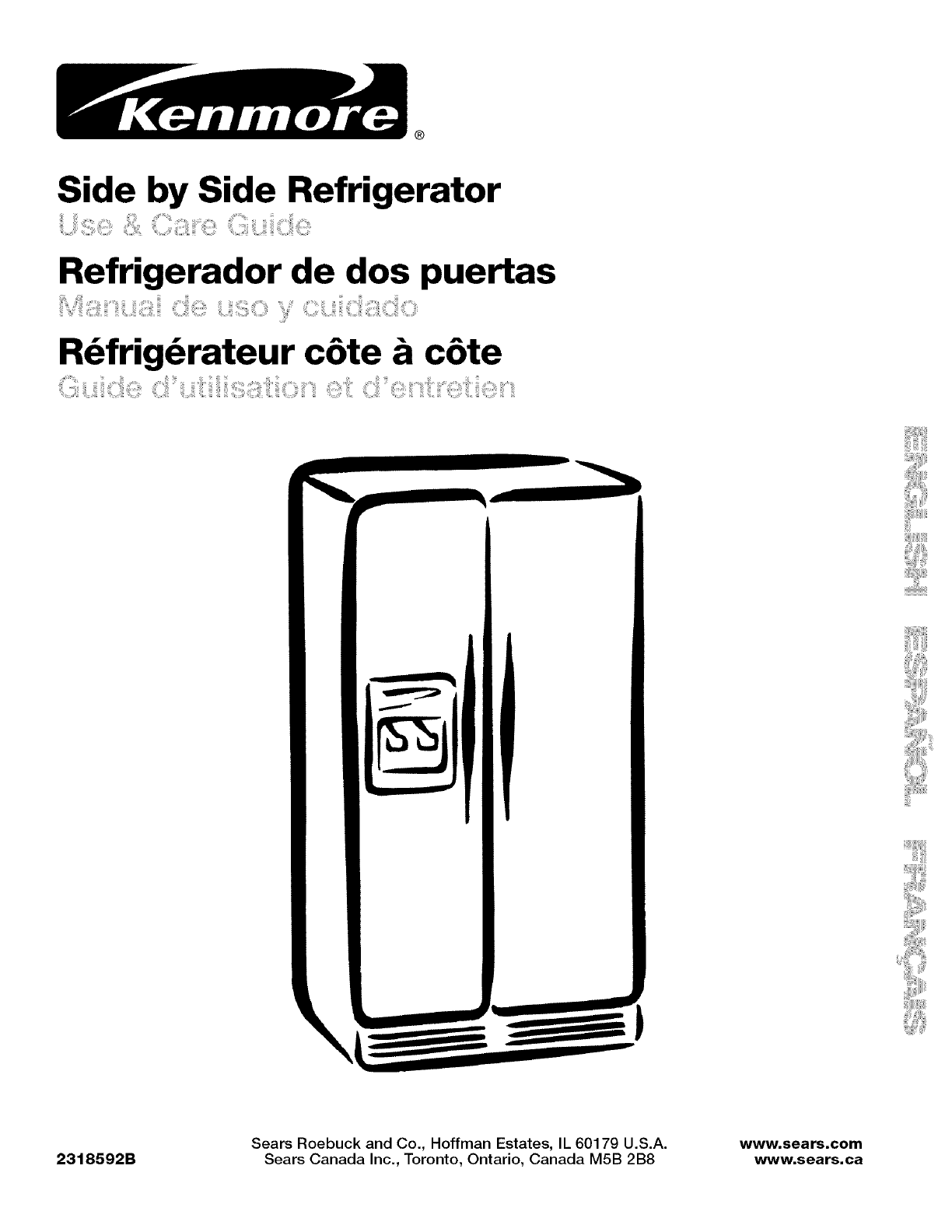 Kenmore Refrigerator User Guide