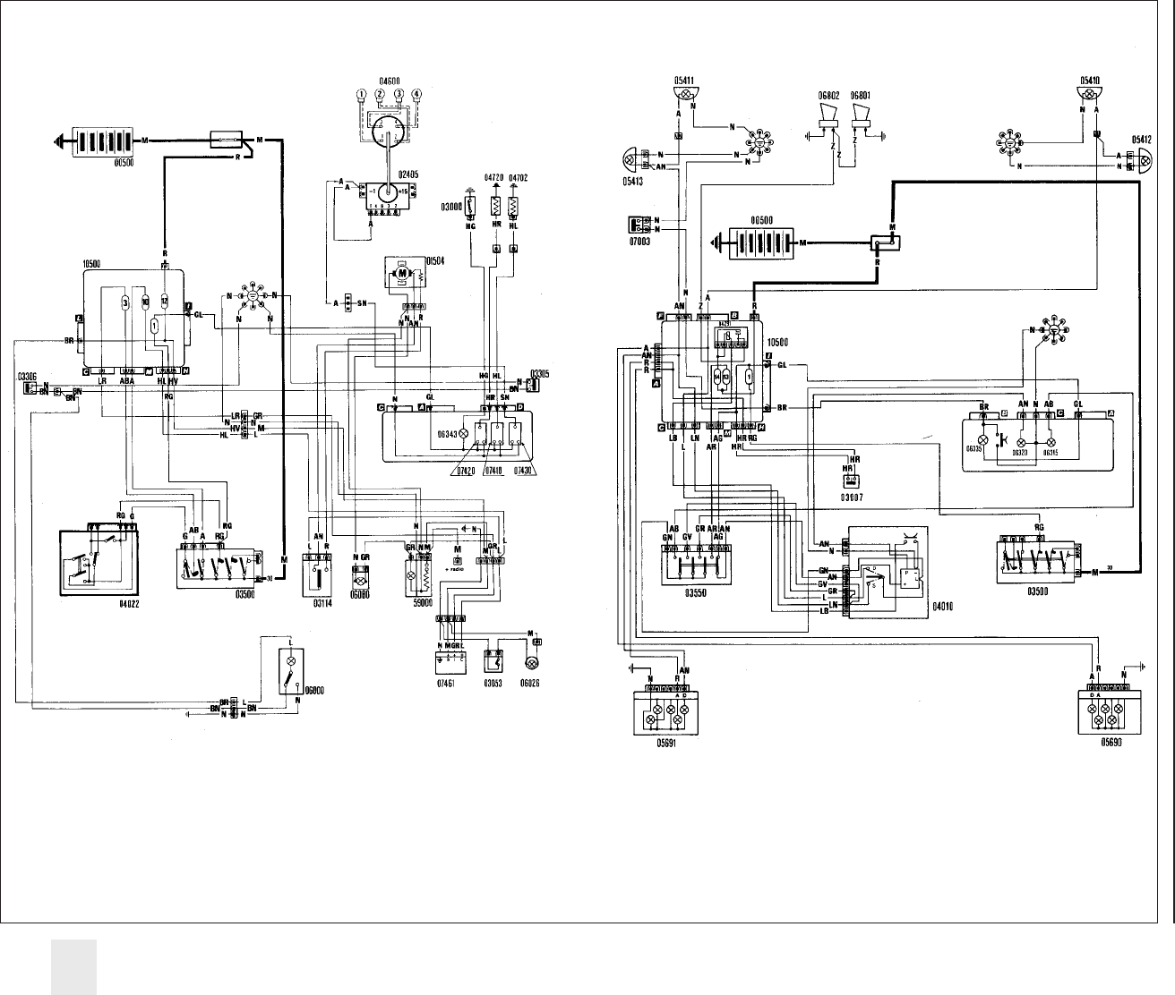 Fiat 131 Wiring Diagram