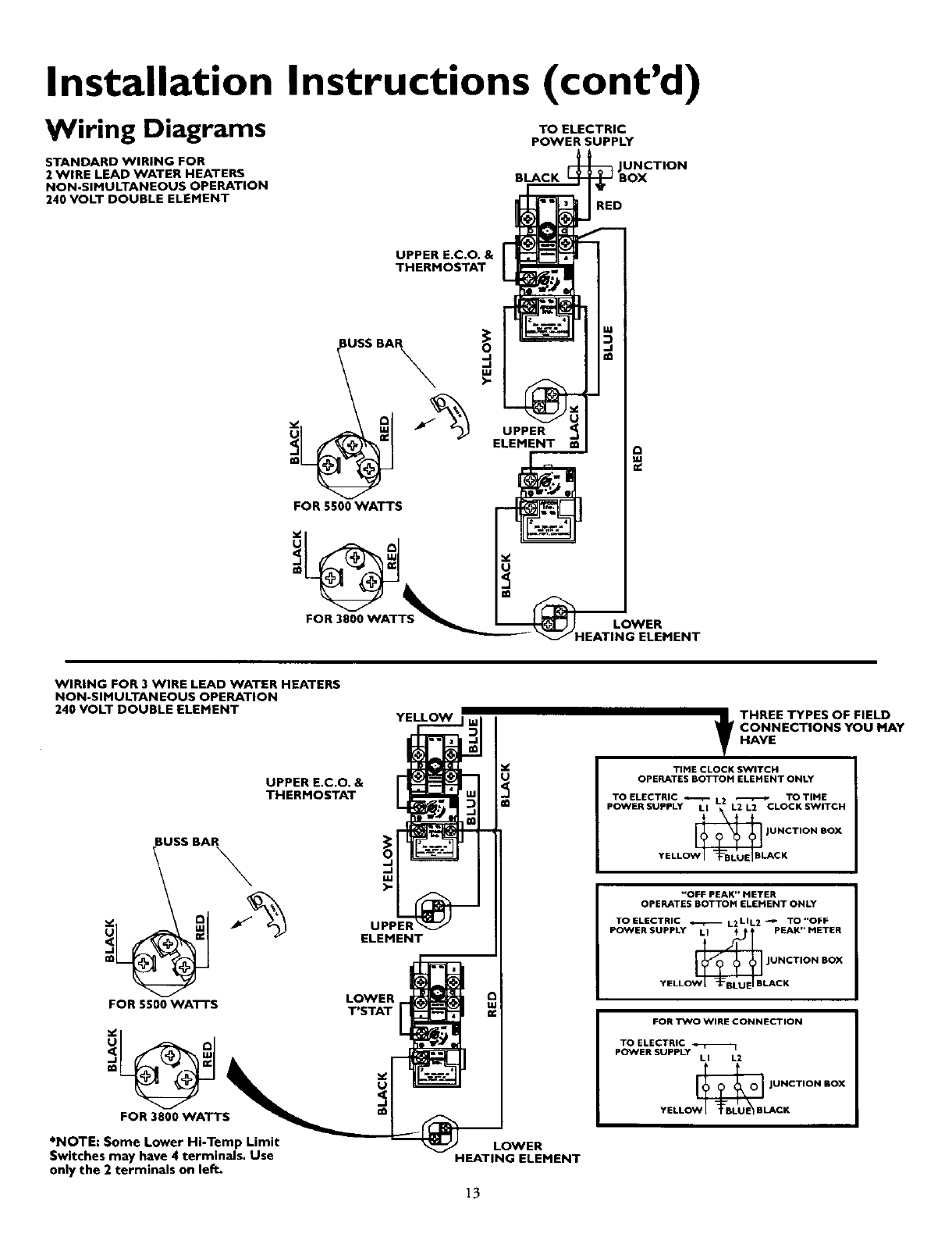 Page 13 Of Kenmore Water Heater 153 Ht User Guide