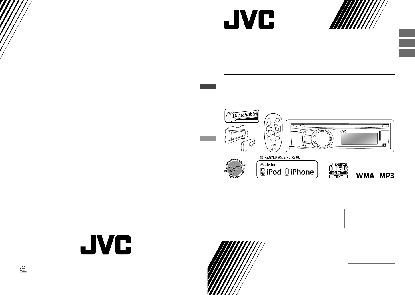 Jvc Car Stereo System Kd R528 User Guide