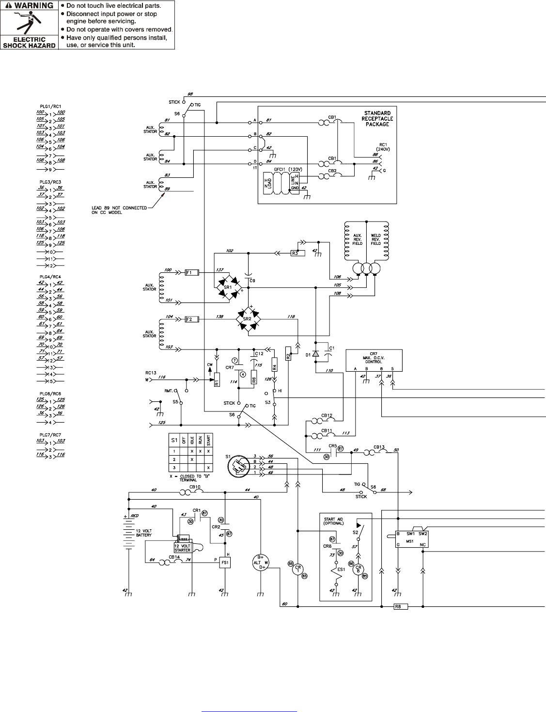 Page 82 of miller electric welding system big blue 602dr user guide miller big 40 wiring diagram 3 miller big 40 wiring diagram