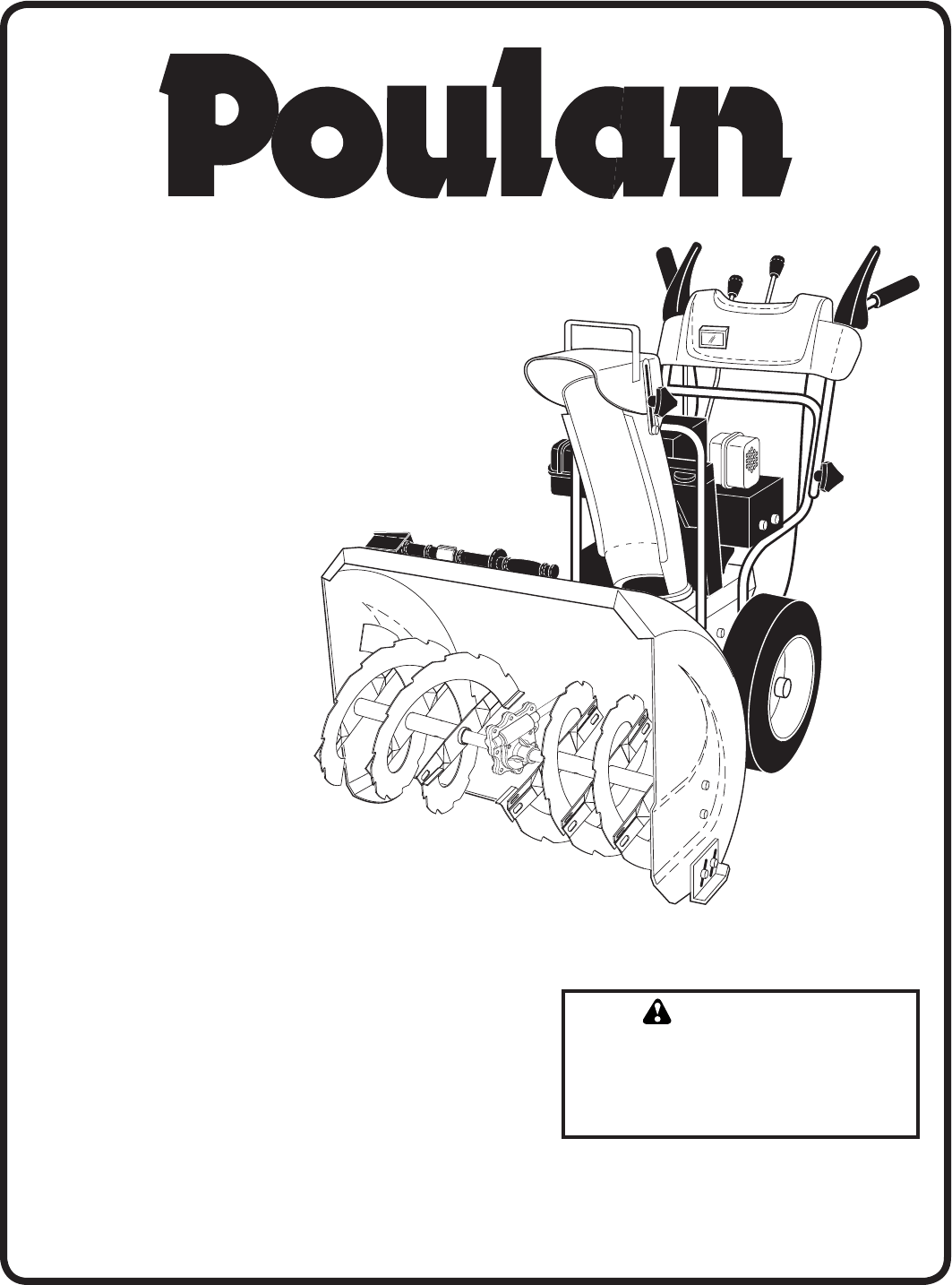 Poulan Snow Blower User Guide