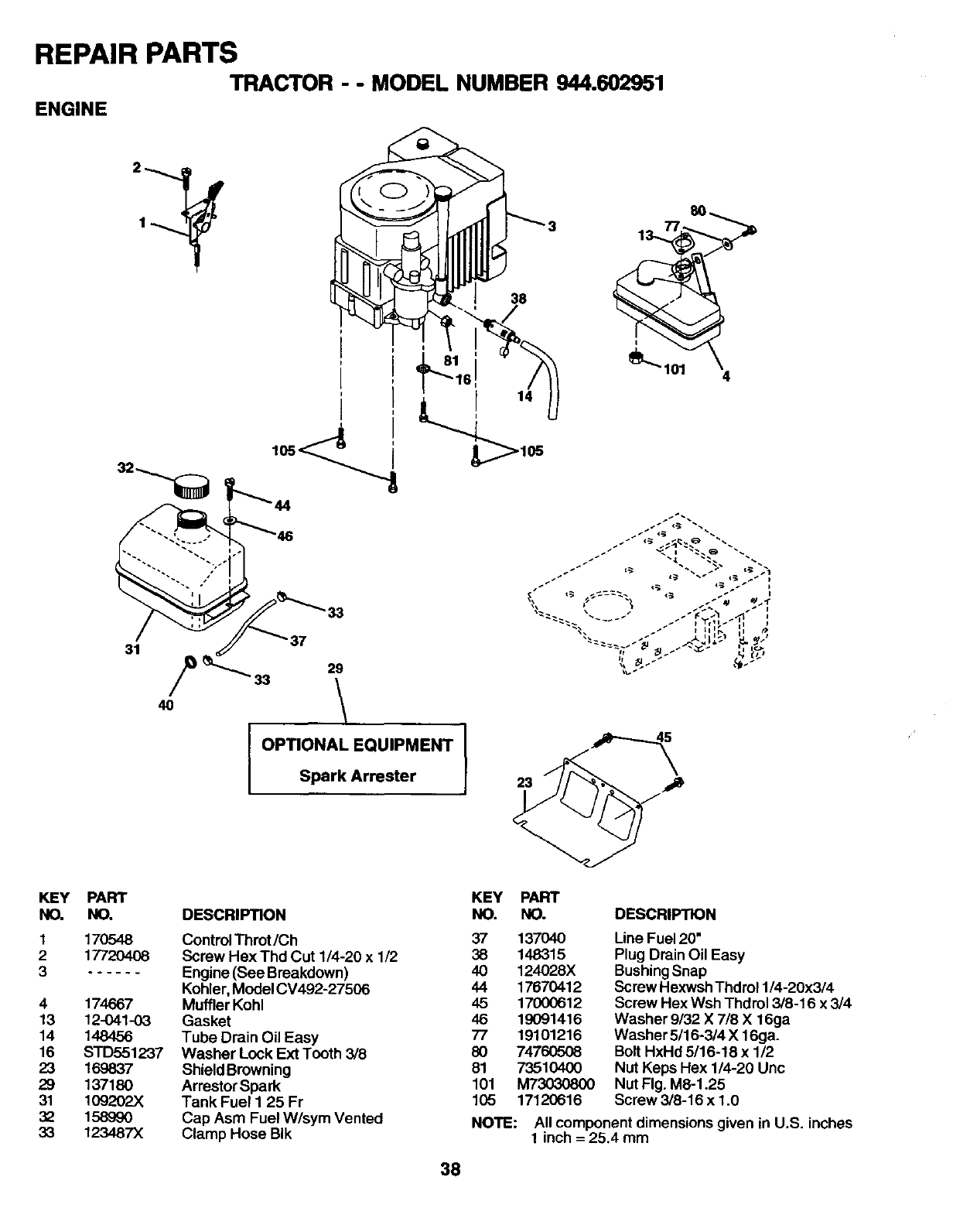 Page 38 Of Craftsman Lawn Mower 944 User Guide