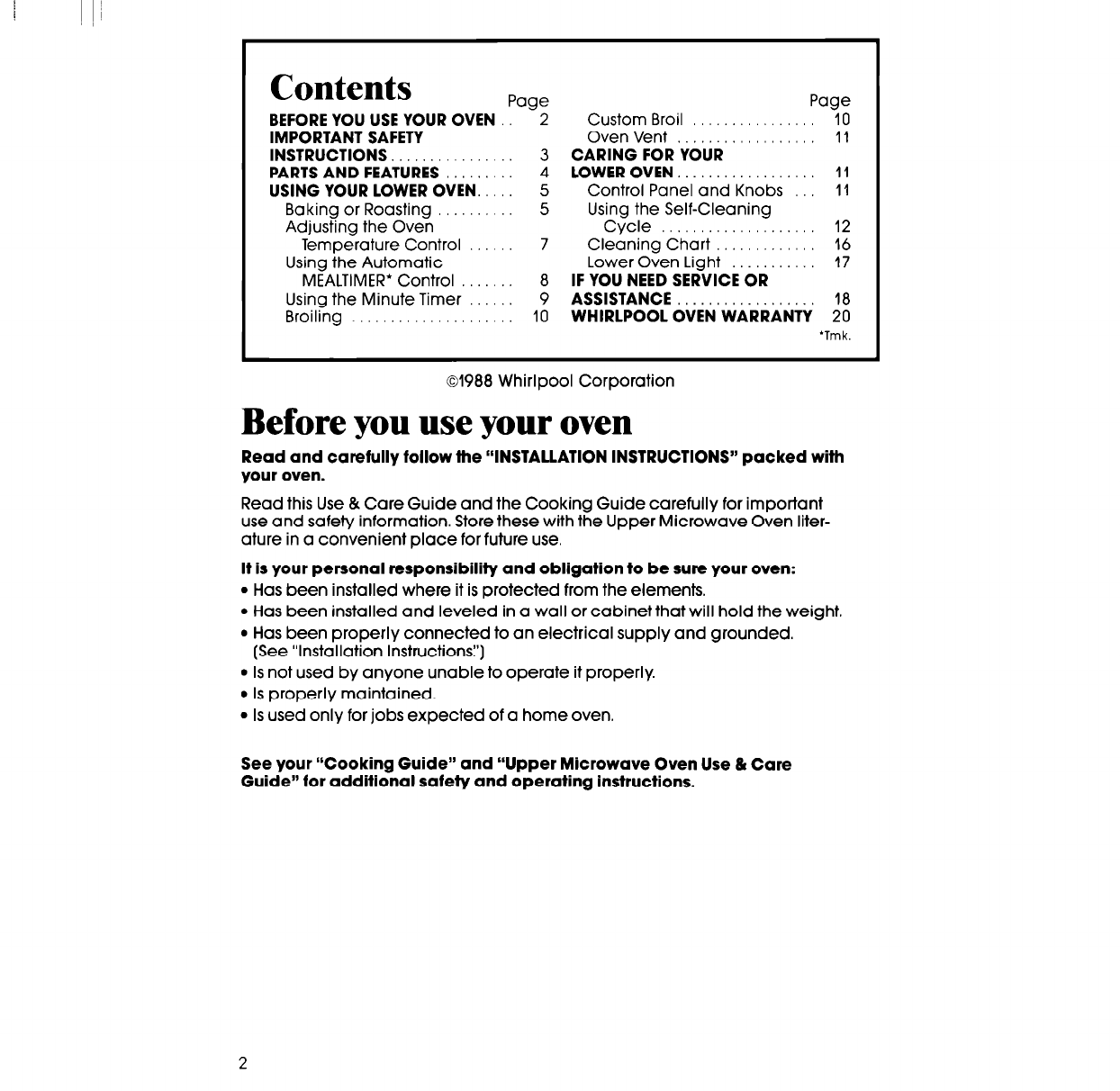 page 2 of whirlpool microwave oven rm778pxt user guide manualsonline com