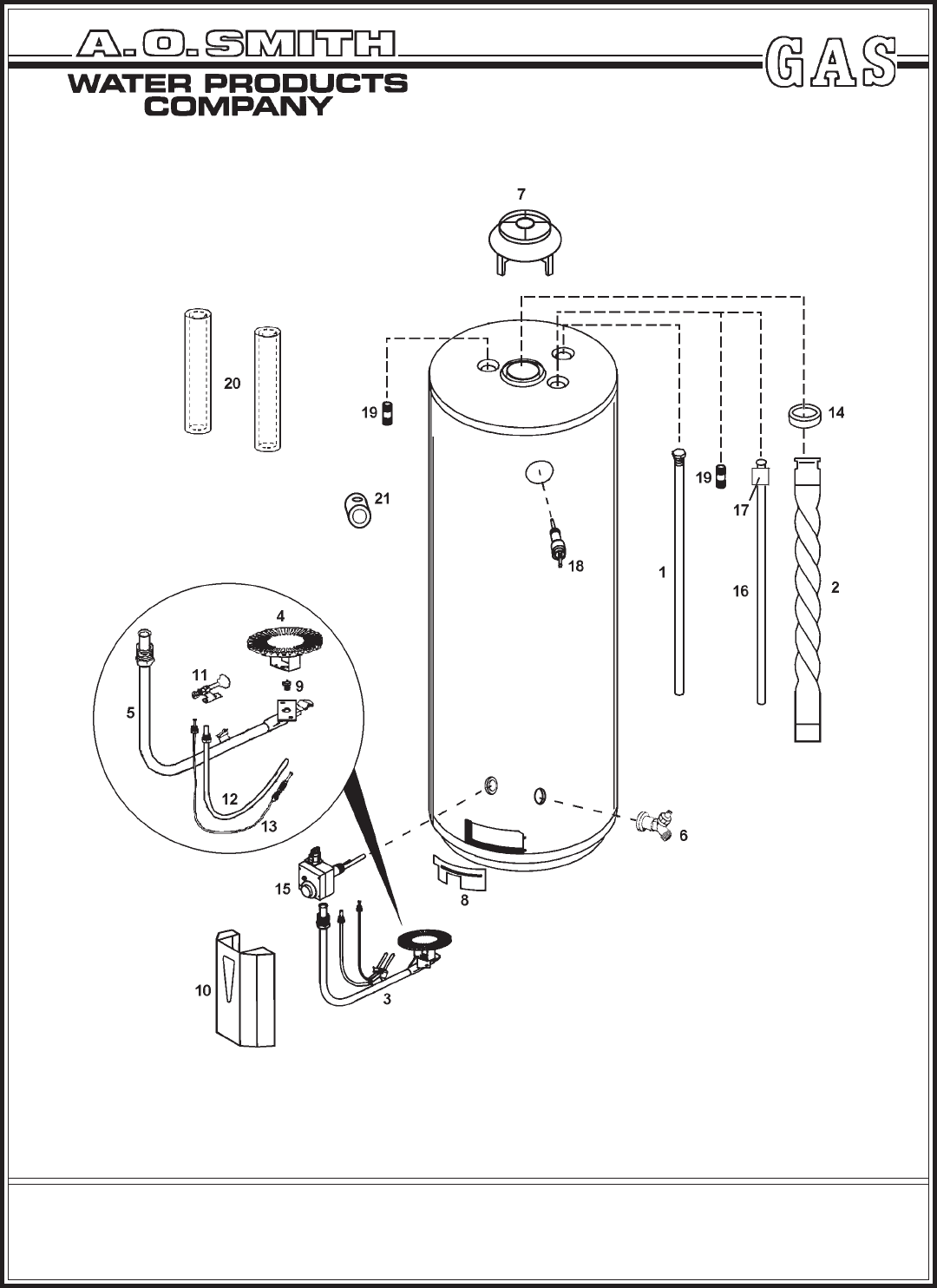 A O Smith Water Heater Bt 65 Series 100 User Guide