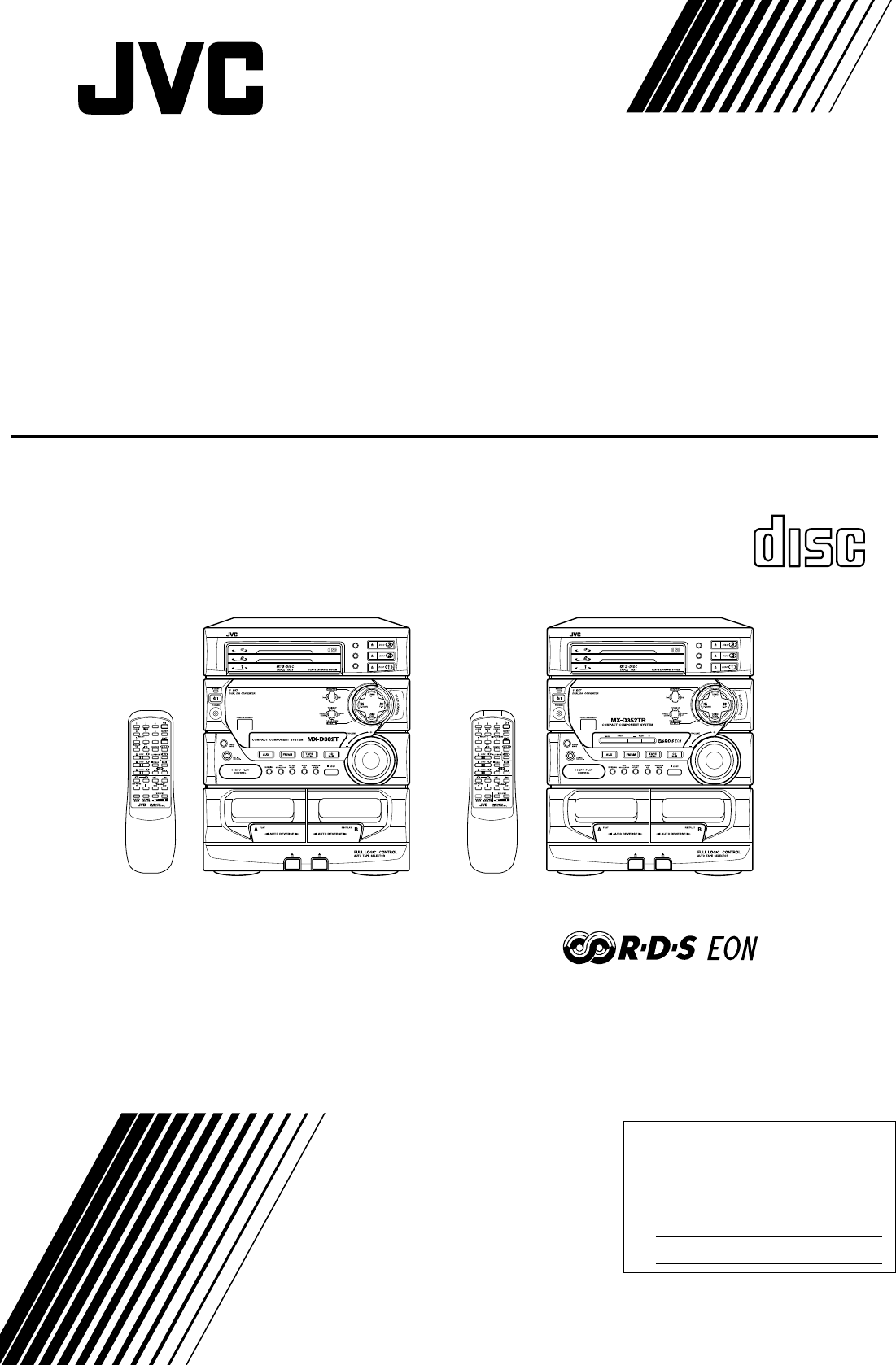Jvc Stereo System Ca D302t User Guide