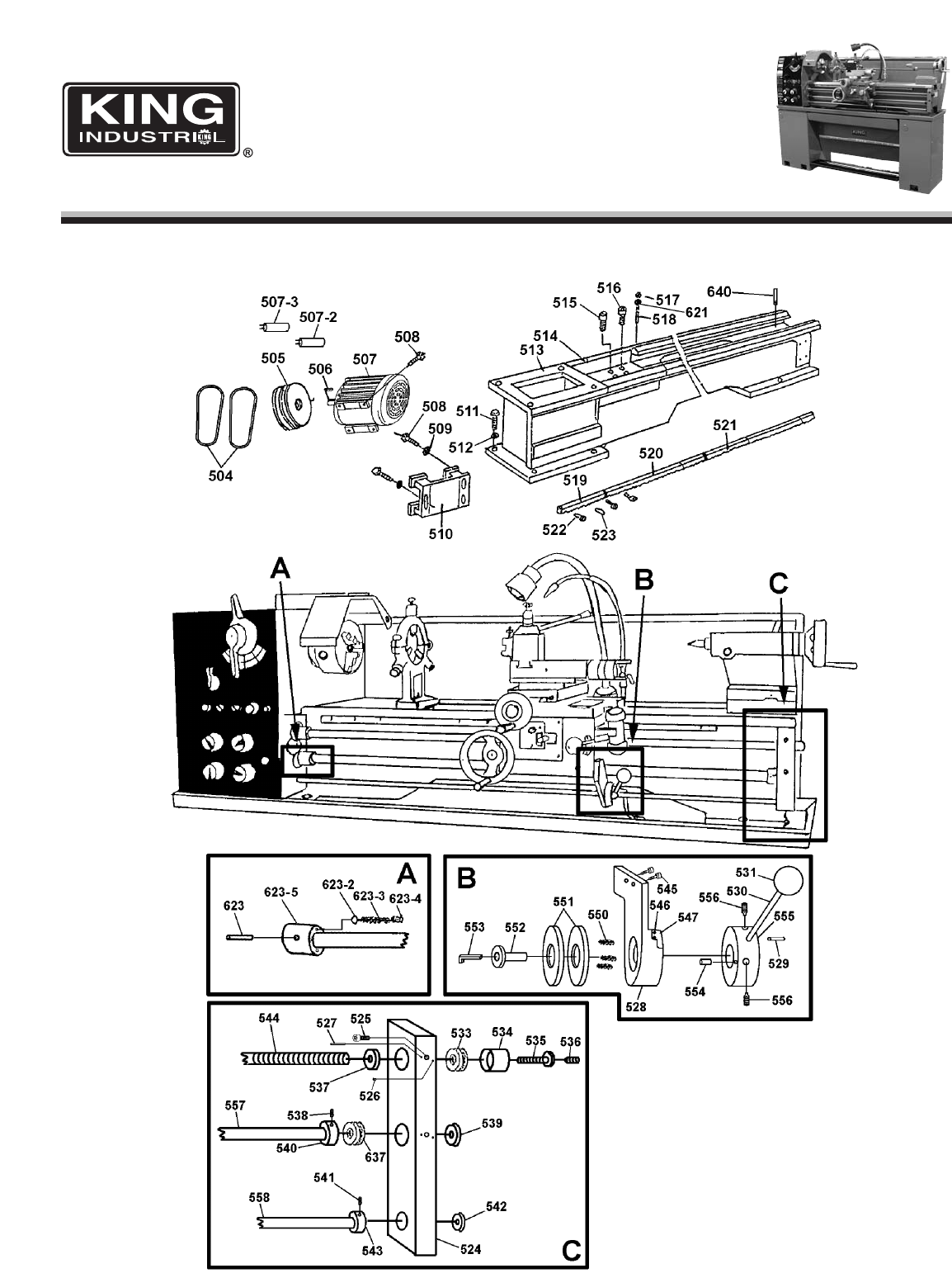Page 9 Of King Canada Lathe Kc Ml 6 User Guide
