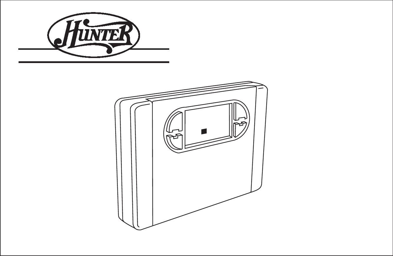 Hunter Fan Thermostat User Guide