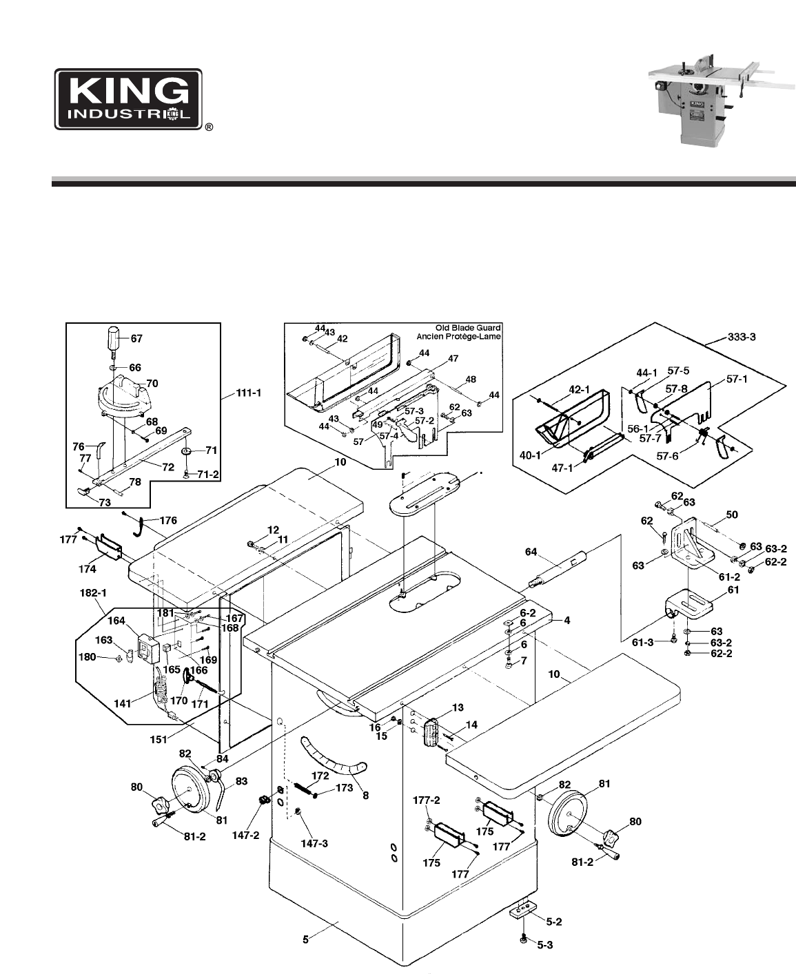 King Canada Saw Kc 10ccx User Guide