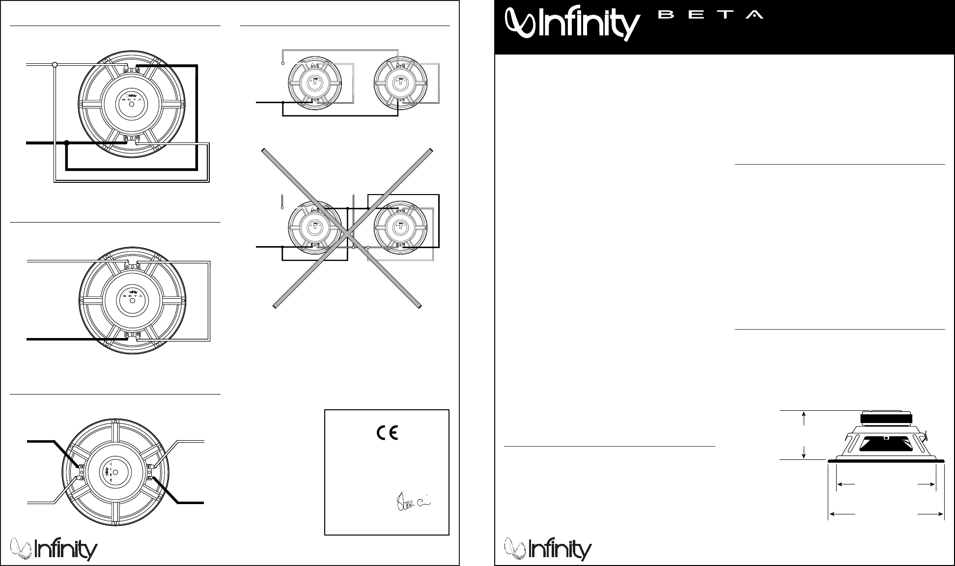 Infinity Speaker Beta Ten Dvc User Guide
